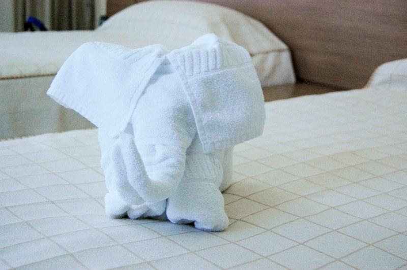 handtuch origami elefant