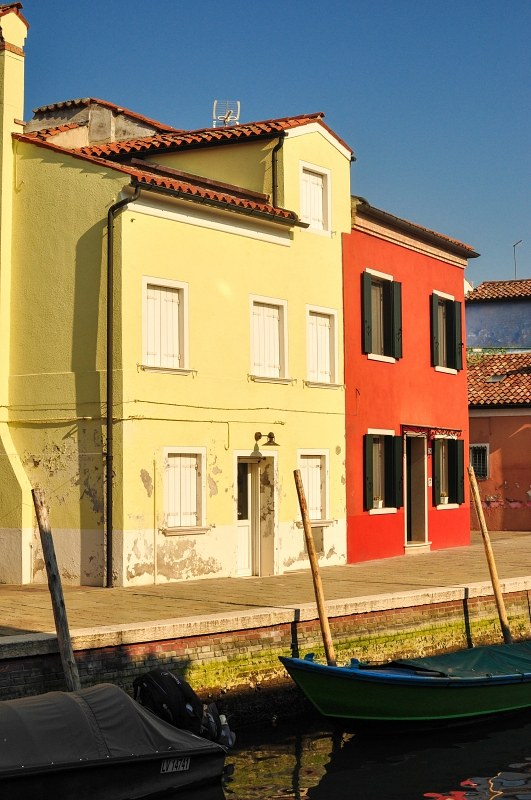 Bright painted houses