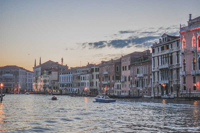 Canal in Venice at dusk