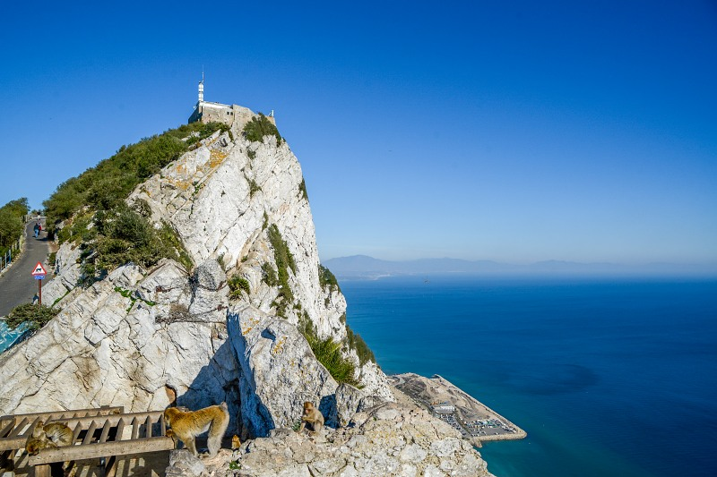 Gibraltar rock fortress