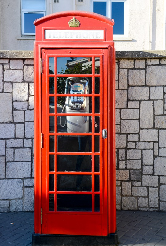 Great Britain red telephone booth