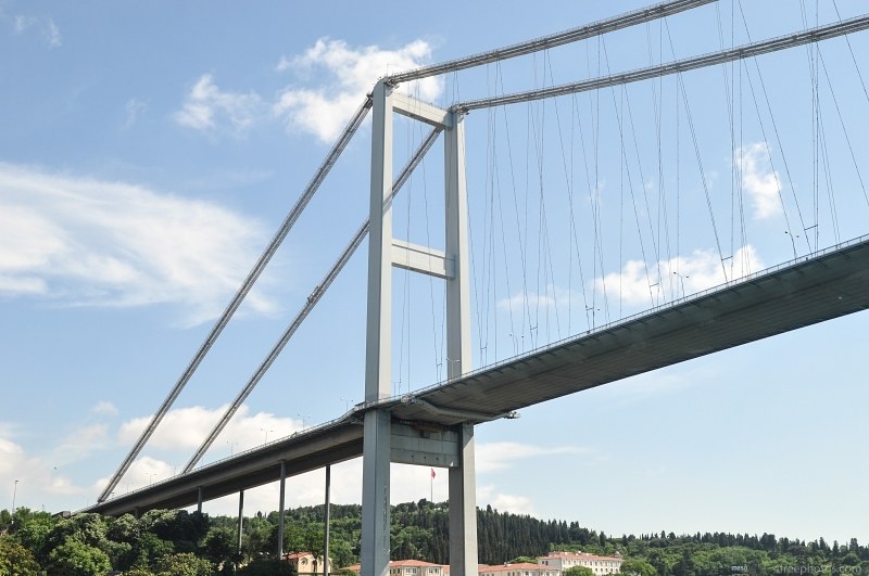 Modern bridge over Bosphorus strait