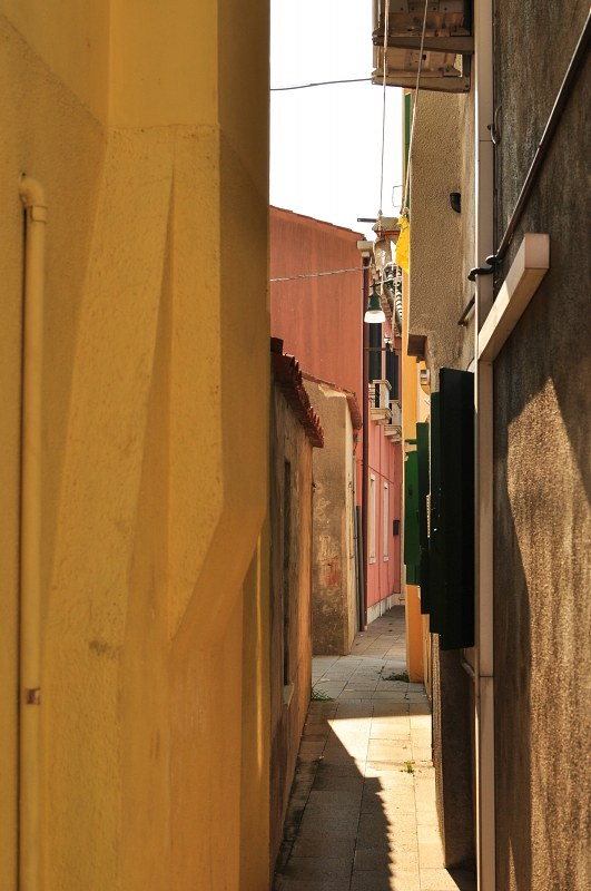 Narrow street in Burano
