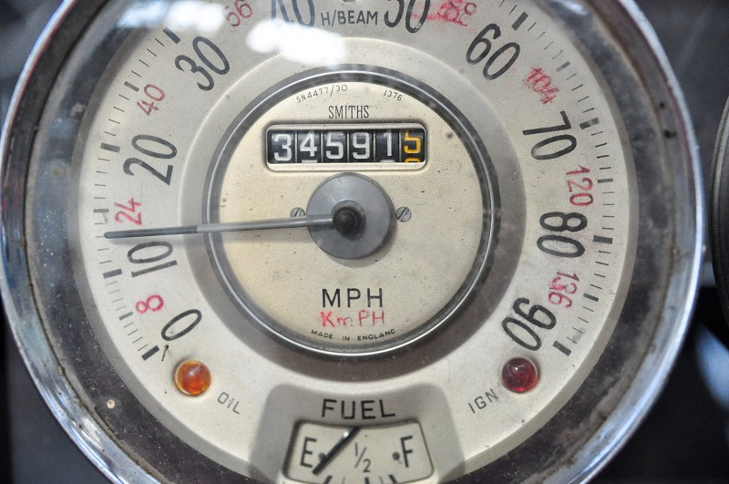 Old car speedometer