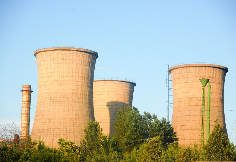 Power plant coling towers
