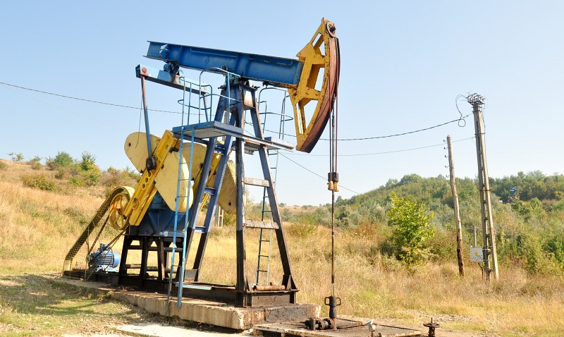 Pump at oil well