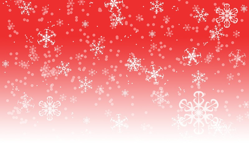 Red snowflakes gradient background