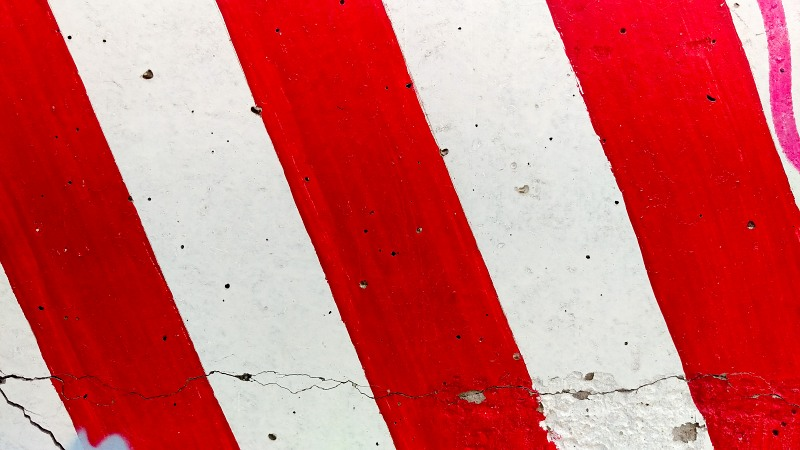 Red stripes concrete block