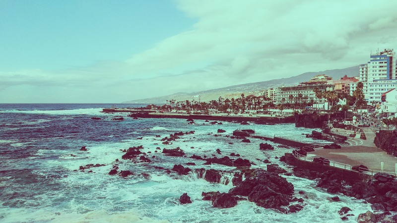 Rocky shore of Tenerife
