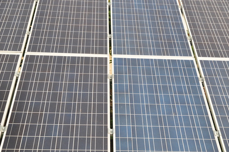 Solar cells in a renewable energy panel