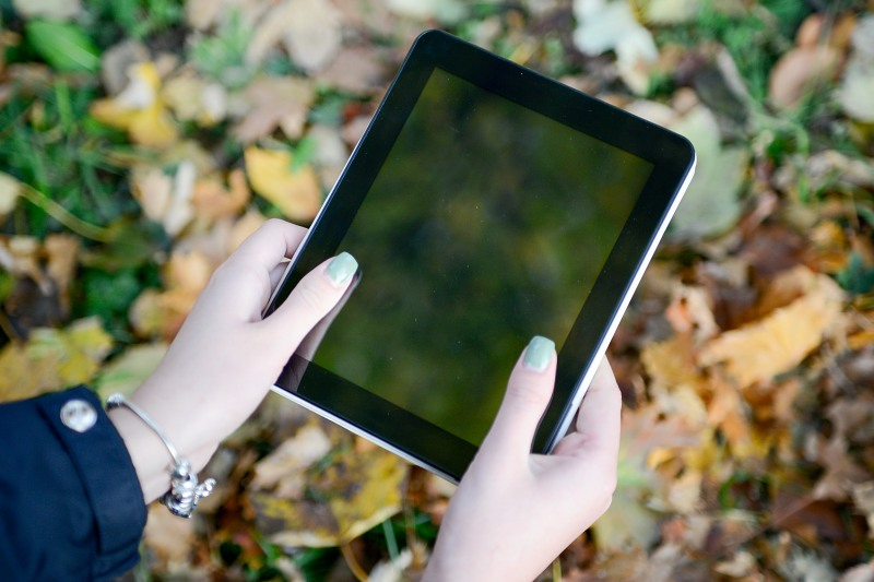 Tablet touch screen outdoor