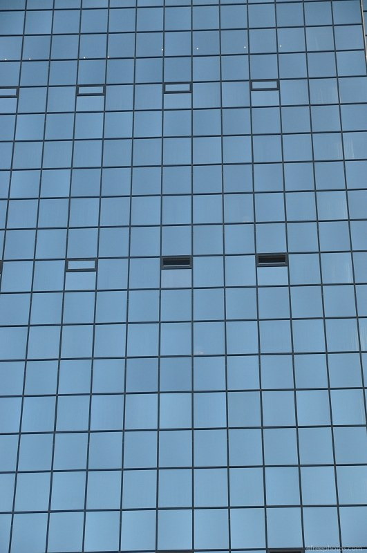 Tall glass building detail