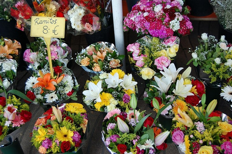 Colorful flower bouquets for sale