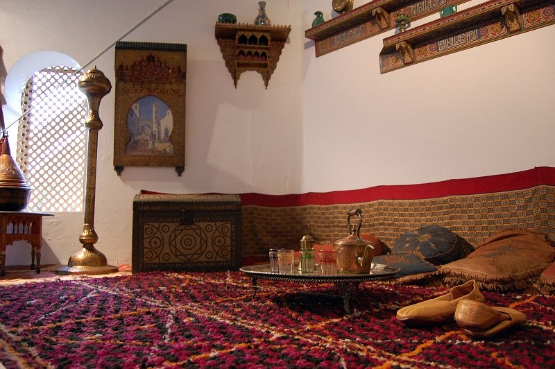 Interior of a old arabic house for Architecture arabe