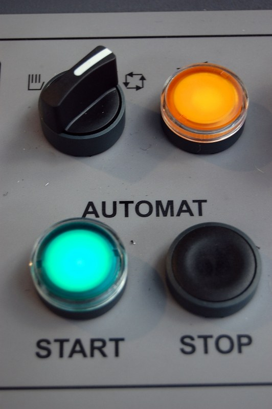 Machine control panel buttons