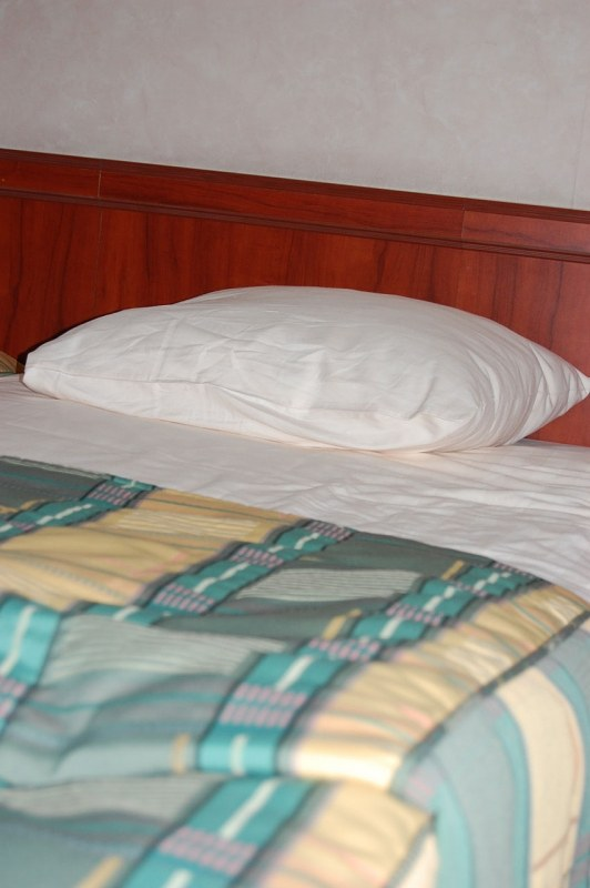 Pillow on a hotel bed