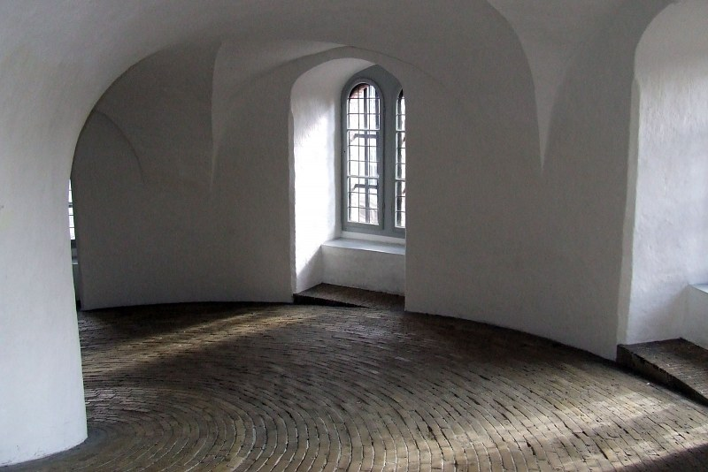 Round tower interior