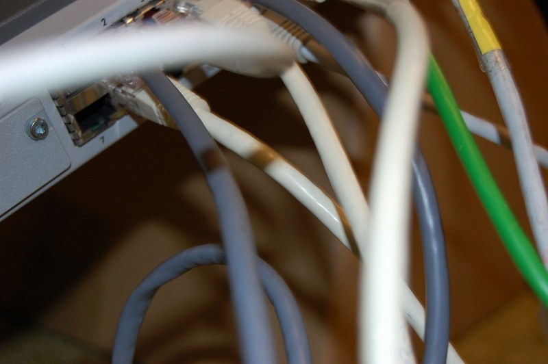 Tangled LAN wires