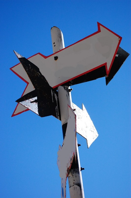 Arrow signs showing direction