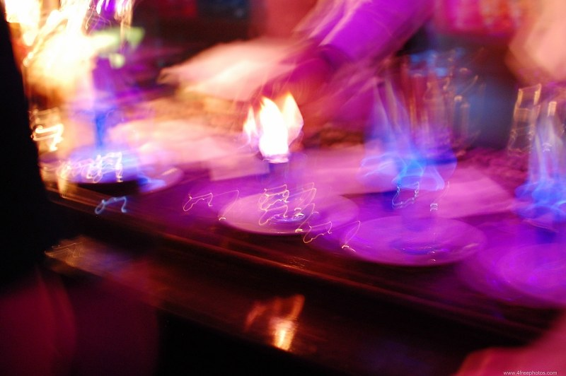 Blurred party bar shots
