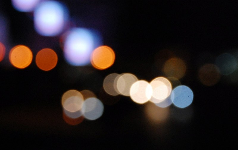 Blurry city lights