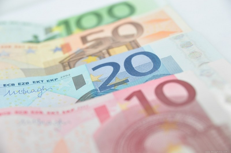 Euro currency closeup