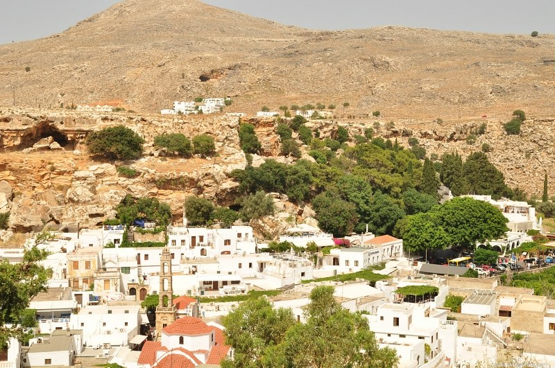 Greek town in arid area