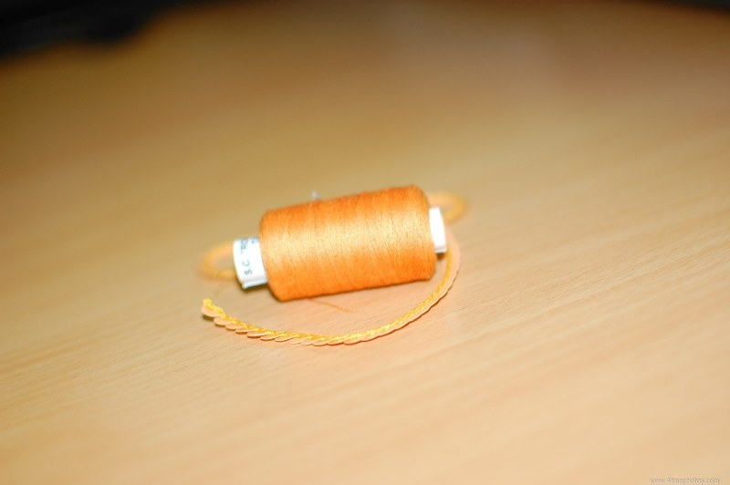 Green string spool