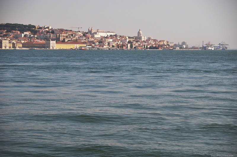 Lisbon city from river