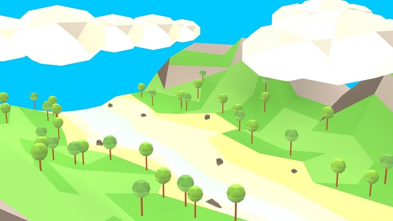 Low poly land