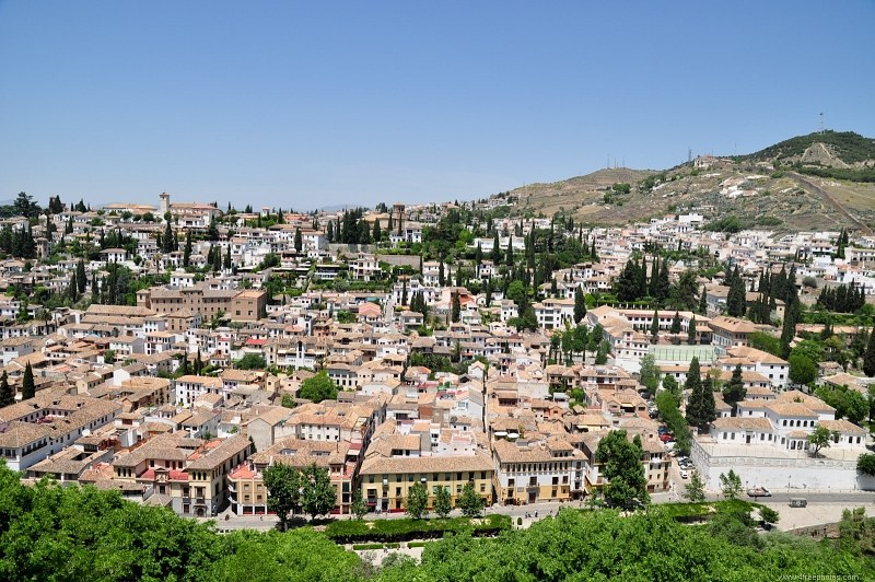 Old Granada city in Spain
