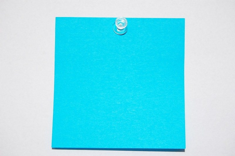 Post-it note on white background