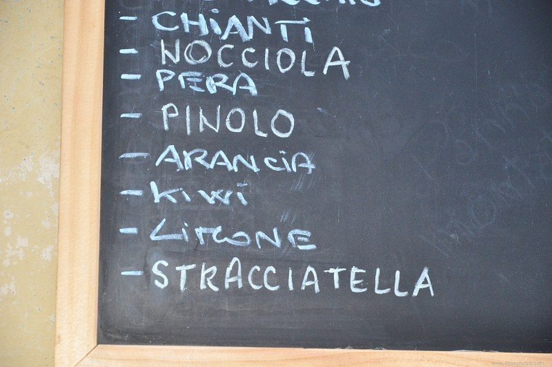 Restaurant menu blackboard