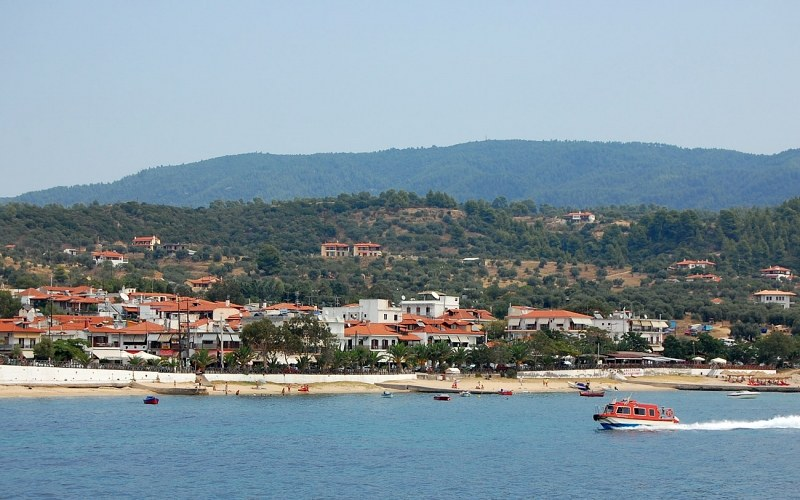 Seaside resort with port