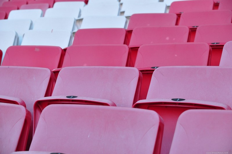Seats in an arena