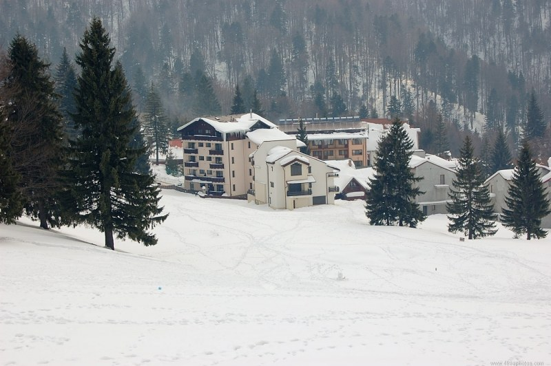 Ski resort at winter