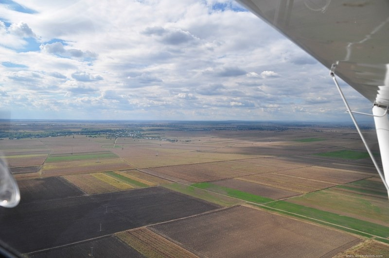 Spring flight over the plains