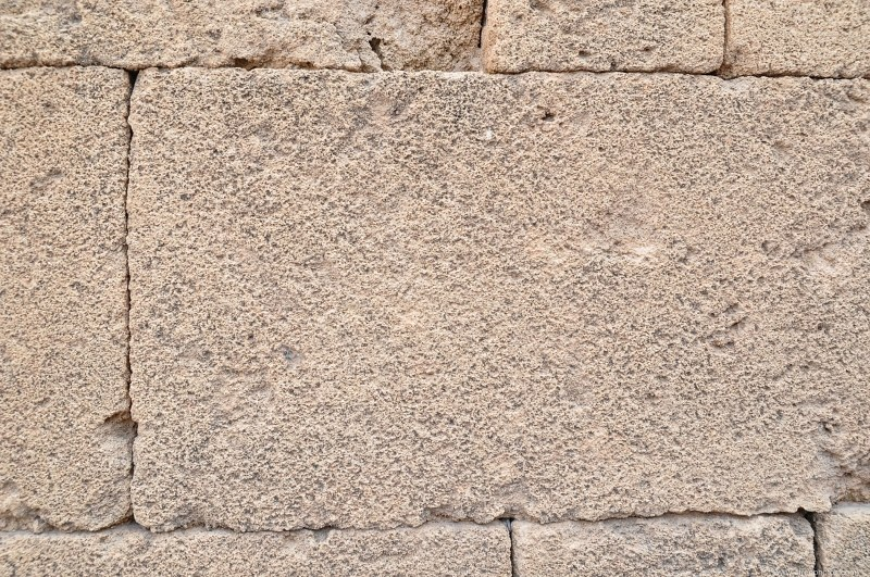 Stone blocks wall