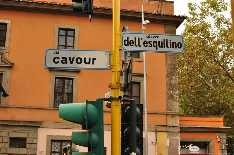 Street sign in Rome