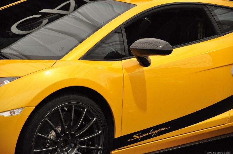 Yellow sports car side