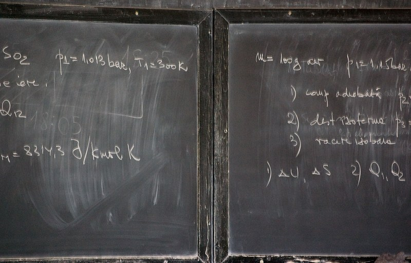 Two blackboards