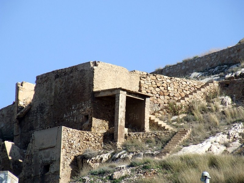 Abandoned ruins on hill top