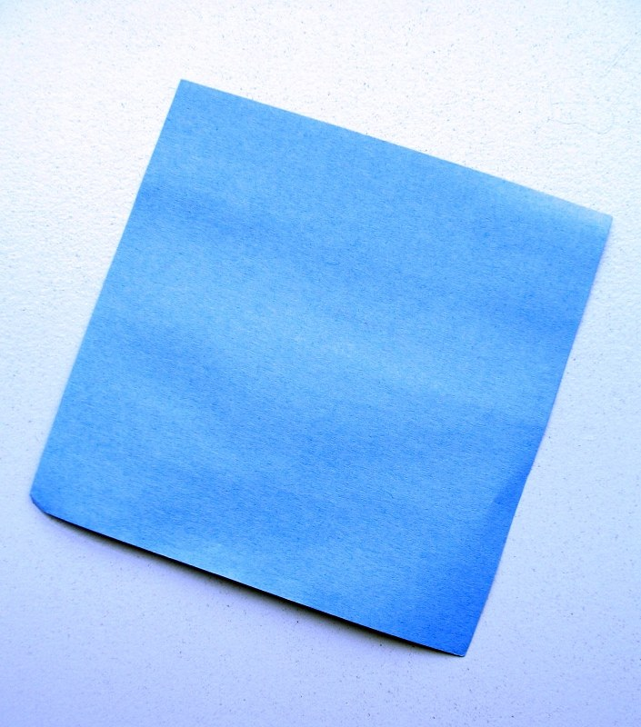 Blue post-it note