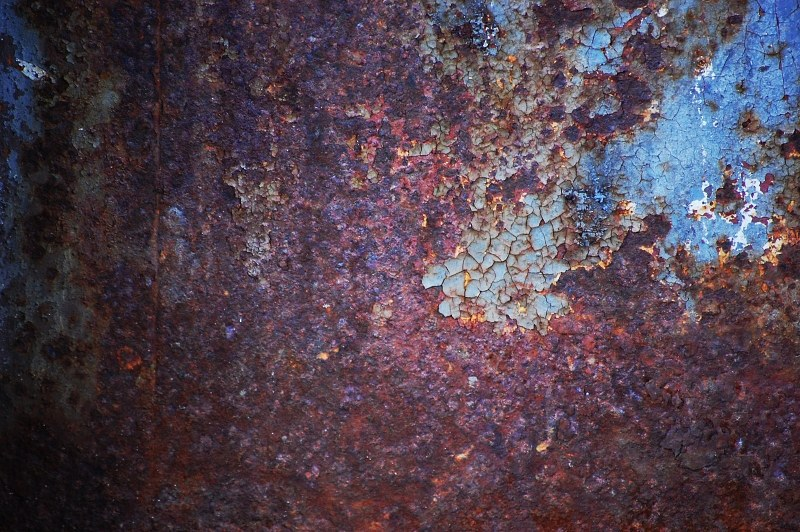 Blue rusty surface