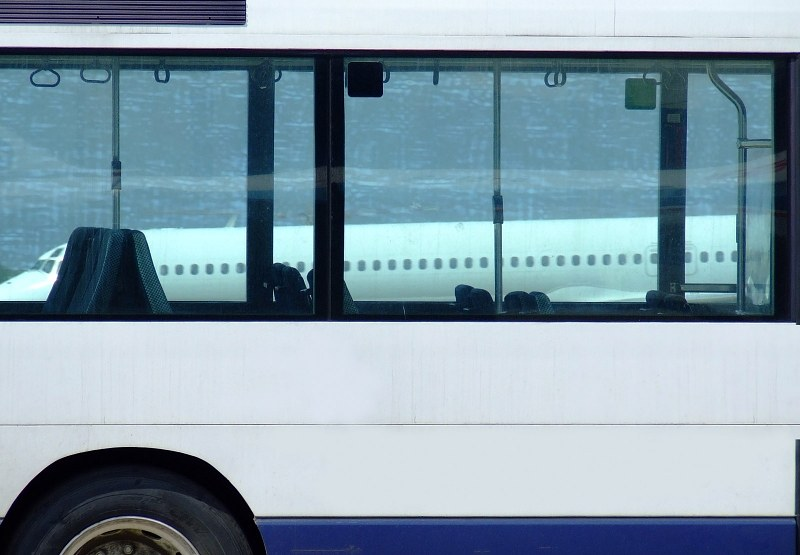 Bus in airport