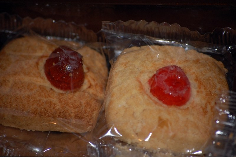 Cookies in plastic wrap