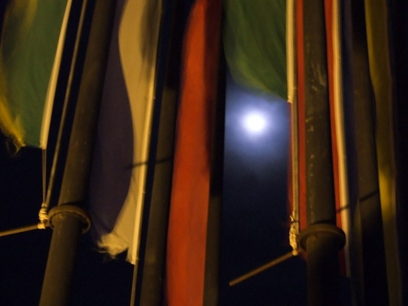Moon trough flags