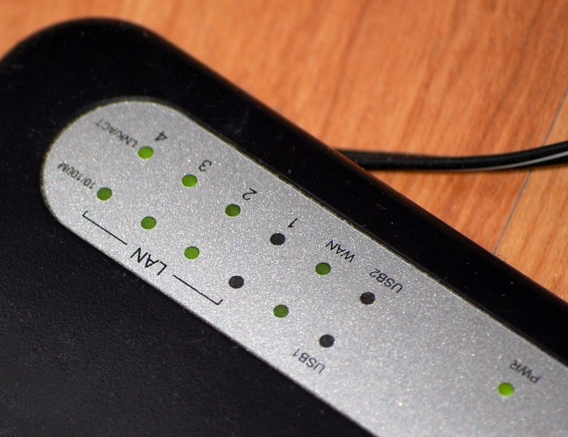 Network router indicator lights