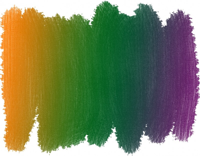 Rainbow watercolor strokes