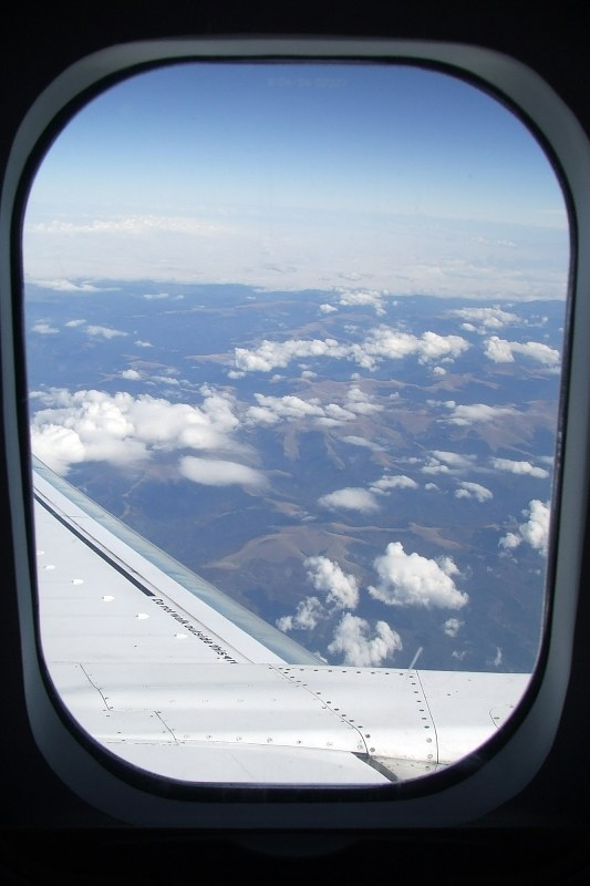View Trough Airplane Window In Flight Free Image On 4 Free Photos